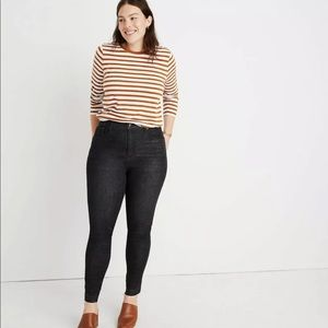Madewell High Rise Drop Hem Jeans
